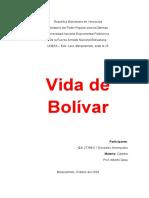 Vida de Bolivar
