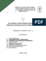 SILABO DE PLANIFICACIÓN ESTRATÉGICA EN PROYECTOS SC 2016-II