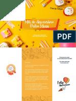 eBook Receitas de Aniversário Paleo Menu App