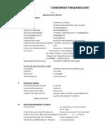 formato N° 01 Memoria Descriptiva