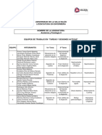 """Equipos de Trabajo Tareas y Sesiones Activas """"Anatomía y Fisiología II"""" Lic Enfermería"""