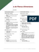 Exemplos Planos Alimentares -Programa PESO