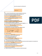 Calcul du NPSH Disponible des Pompes