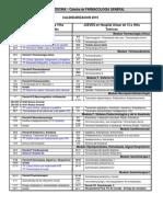 Calendarización 2019 Farmaco Medicina