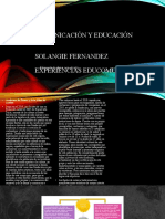 Comunicación y educación para sustentación...