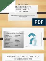 DIAPOSITIVAS PRINCIPIOS DE PROCEDIMIENTOS TRIBUTARIOS