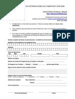 Formulario Perdida Visa