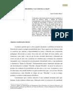 A FILOSOFIA VAI À ESCOLA - Artigo do Prof. Junot