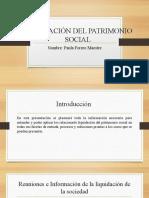 LIQUIDACIÓN DEL PATRIMONIO SOCIAL