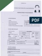 Ficha de postulante de Luis Arce Córdova en el CNM