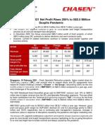Chasen's 9MFY2021 Net Profit Rises 205% to S$2.5 Million Despite Pandemic