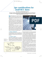 Design consideration of R.C.C. Dam