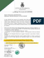Falsa certificazione del Comune Quarrata