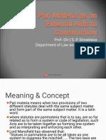 Use of Pari Materia as an External Aids