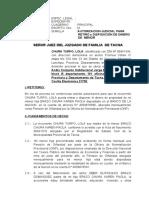 DEMANDA  de AUTORIZACIÓN PARA DISPOSICIÓN DE BIENES DE MENOR