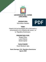 Impacto de las tecnologías de la información y comunicación en la industria del turismo  en la  República Dominicana