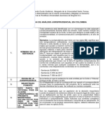Modelo de Ficha de Análisis Jurisprudencial en Colombia