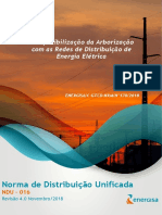NDU 016 - Compatibilização Da Arborização Com as Redes de Distribuição
