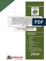 Plan de Mantenimiento de Sistemas de Agua par Consumo Humano en la zona Rural