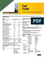 Cat® TL943D Manipulador Telescópico com Estabilizadores