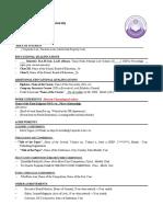 University CV format