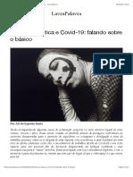 """Classe"" artística e Covid-19"