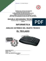 Análisis Sistemico de Objeto Técnico El TECLADO