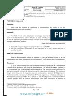Devoir de Contrôle N°2 - Économie - Bac Economie & Gestion (2013-2014) Mr Kamel Ajour