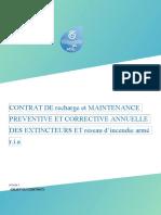 CONTRAT DE recharge et MAINTENANCE PREVENTIVE ET CORRECTIVE ANNUELLE DES EXTINCTEURS ET réseau d
