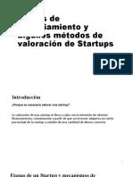 Etapas de Financiamiento y Métodos de Valoración de Startups