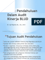 Audit Pendahuluan Dalam Audit Kinerja BLUD