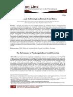 A Atuação da Psicologia na Proteção Social Básica