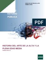 HISTORIA DEL ARTE DE LA ALTA EDAD MEDIA