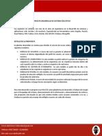 PROPUESTA DESARROLLO DE SISTEMA EDUCATIVO