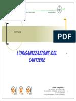 Organizzazione Del Cantiere