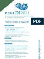 Volunteer IDM Schimmen Berlin 2011
