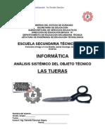 Análisis Sistémico de Objeto Técnico Las TIJERAS