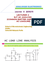 Lect 4 BJT AC Analysis (Common Emitter Amplifier AC