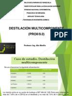 Practica No. 4 Análisis y evaluación de una torre de destilación empleando simuladores de procesos. Trabajo Práctico Sistemas Multicomponente.