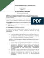 Reglamento de Fraccionamientos Oaxaca