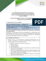 estadistica - Unidad 2 - Fase 3 - Distribucion y probabilidad
