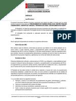 ESPECIFICACIONES TECNICAS DEL PROYECTO MEJORAMIENTO DE VIVIENDA RURAL DE MATERIAL ADOBE Y ACABADOS