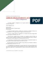 Libros Obligatorios y Auxiliares de Contabilidad
