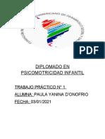 DIPLOMADO EN PSICOMOTRICIDAD INFANTIL.docx trabajo n 1