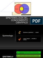 EPISTEMOLOGÍA DEL CONOCIMIENTO CIENTIFICO