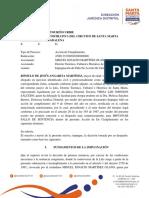 Impugnación de fallo Acción de Cumplimiento 'Mono' Martínez en Santa Marta