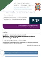 REVISTA CLINICA Pronóstico y Seguimiento de La Enfermedad COVID 19