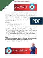 Cronograma de Física - Extensivo Medicina 2017