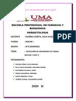 COMENTARIOS ARTICULO PARASITOLOGIA