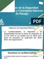 Objetivos de la Seguridad Informática y Conceptos Básicos de Riesgo